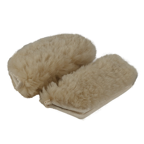 Sheepskin Infant shoulder strap covers