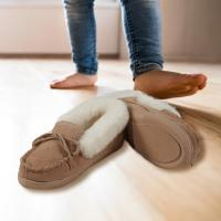Child's Sheepskin Moccasin Slipper