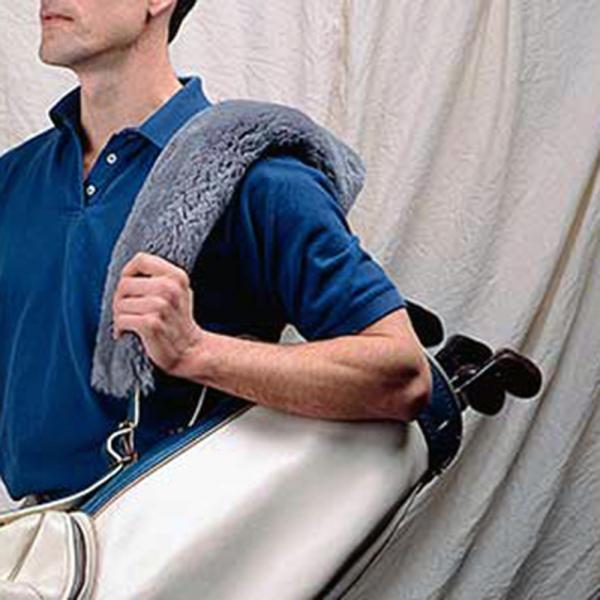 Sheepskin Golf Bag Strap Cover