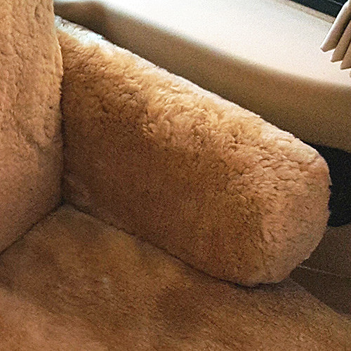 Sheepskin Arm Rest Covers