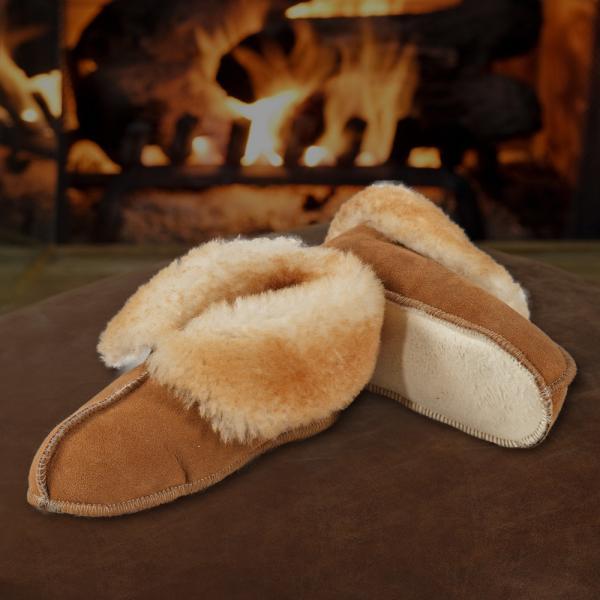 Sheepskin Soft Sole Boot Slippers