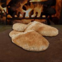 Sheepskin Fuzzy Scuff Slippers
