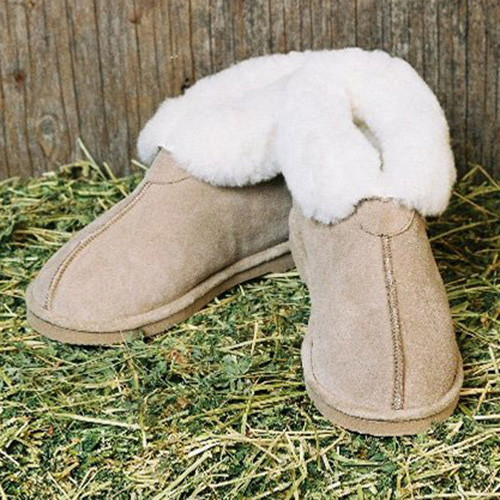 Sheepskin Slippers Hard Sole