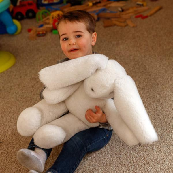 Stuffed Sheepskin Rabbit