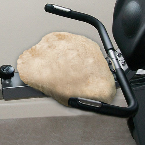 Sheepskin Universal Exercise Bike Seat Cover