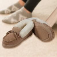 Youth Moccasin Sheepskin Slippers