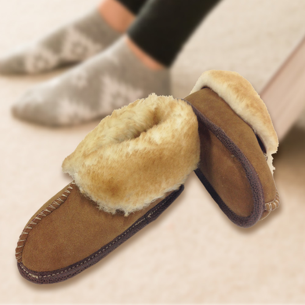 Youth Premium Sheepskin Slippers