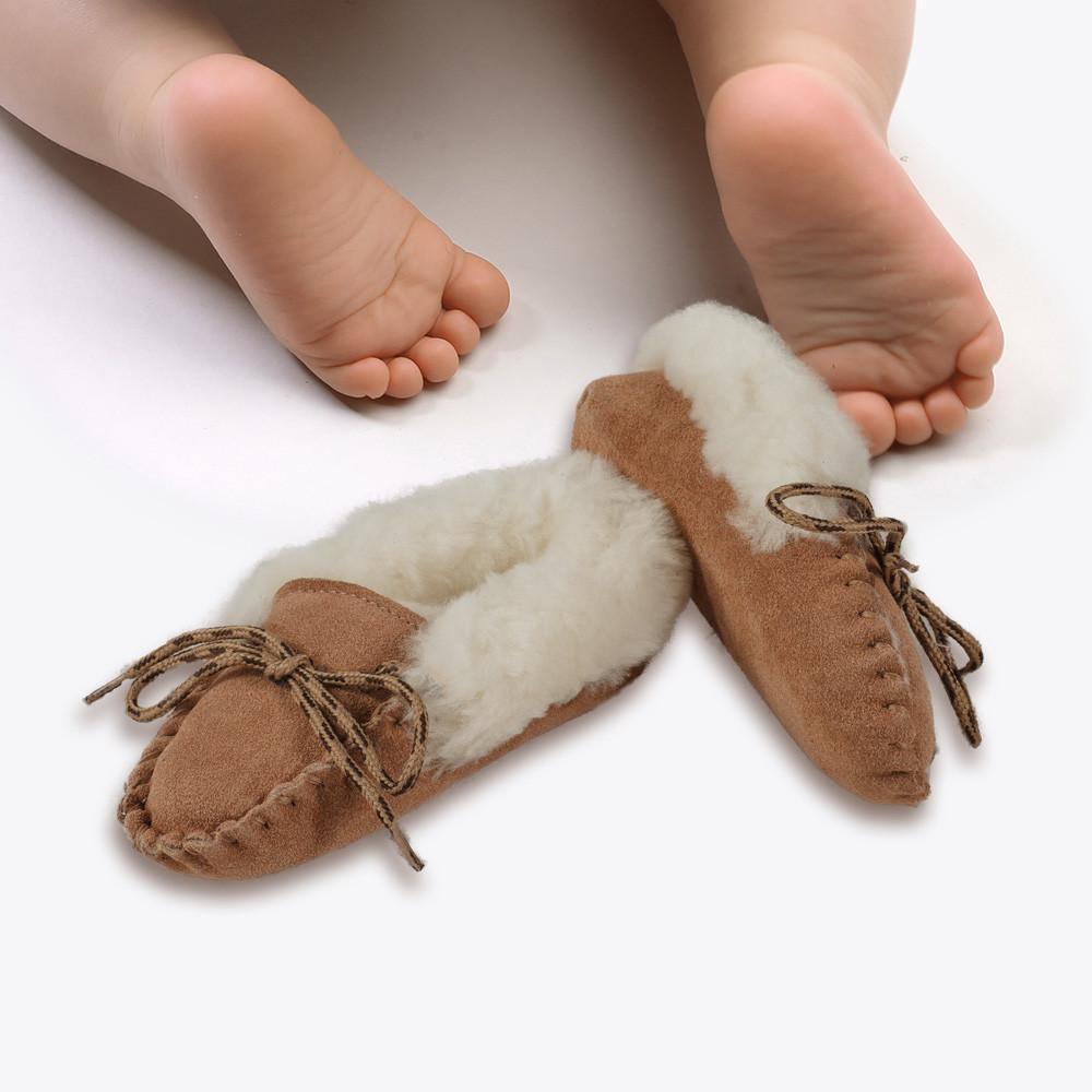 Sheepskin Baby Moccasins