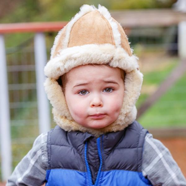 Child's Aviator Sheepskin Hat