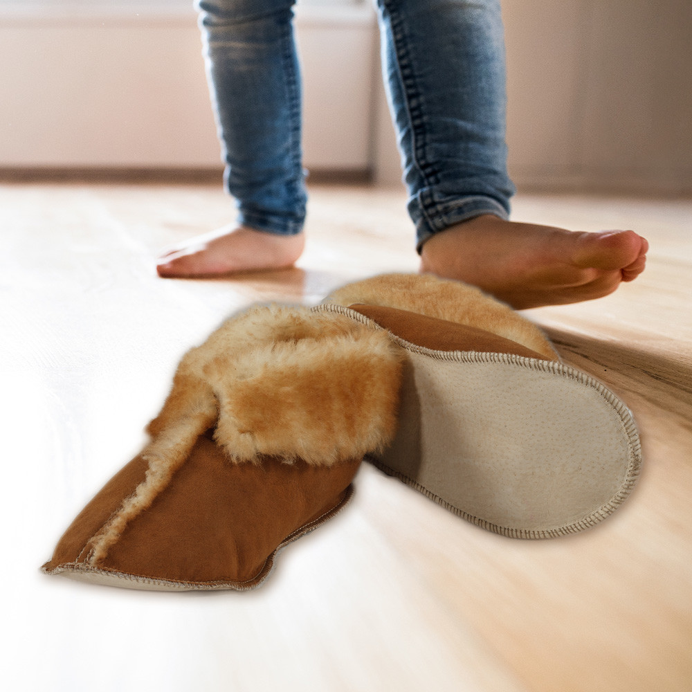 Child's Deluxe Sheepskin Slippers