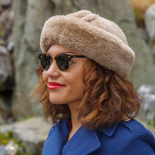Sheepskin Jackie Hat