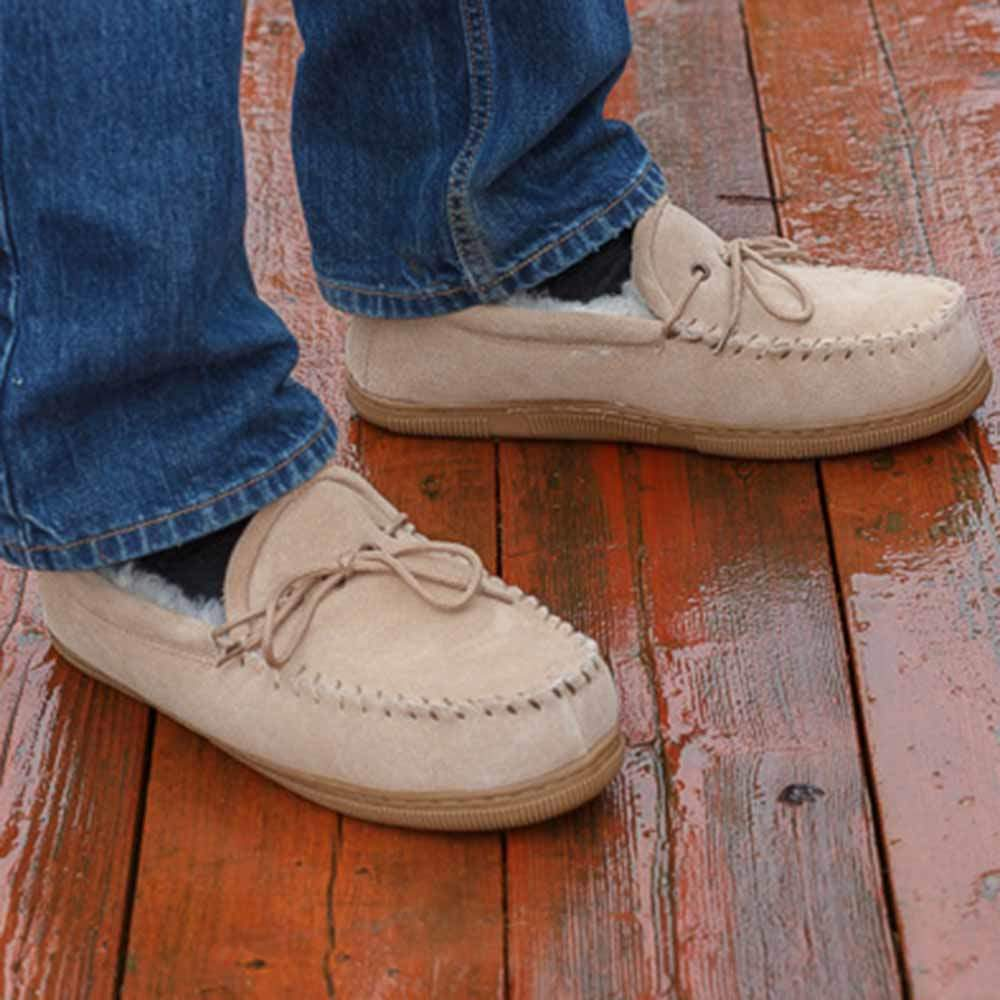 Sheepskin Moccasin Slippers