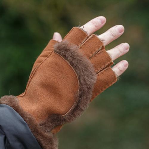 Sheepskin Fingerless Gloves