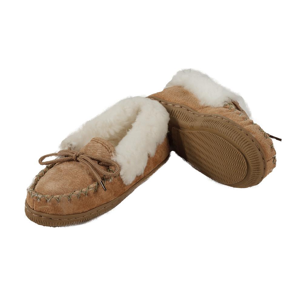Sheepskin Moccasin Slippers Roll Cuff