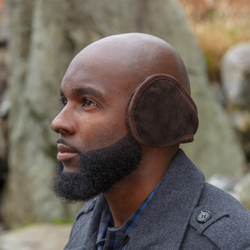 Slim Fit Sheepskin Earmuffs Brown