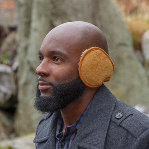 Slim Fit Sheepskin Earmuffs Tan