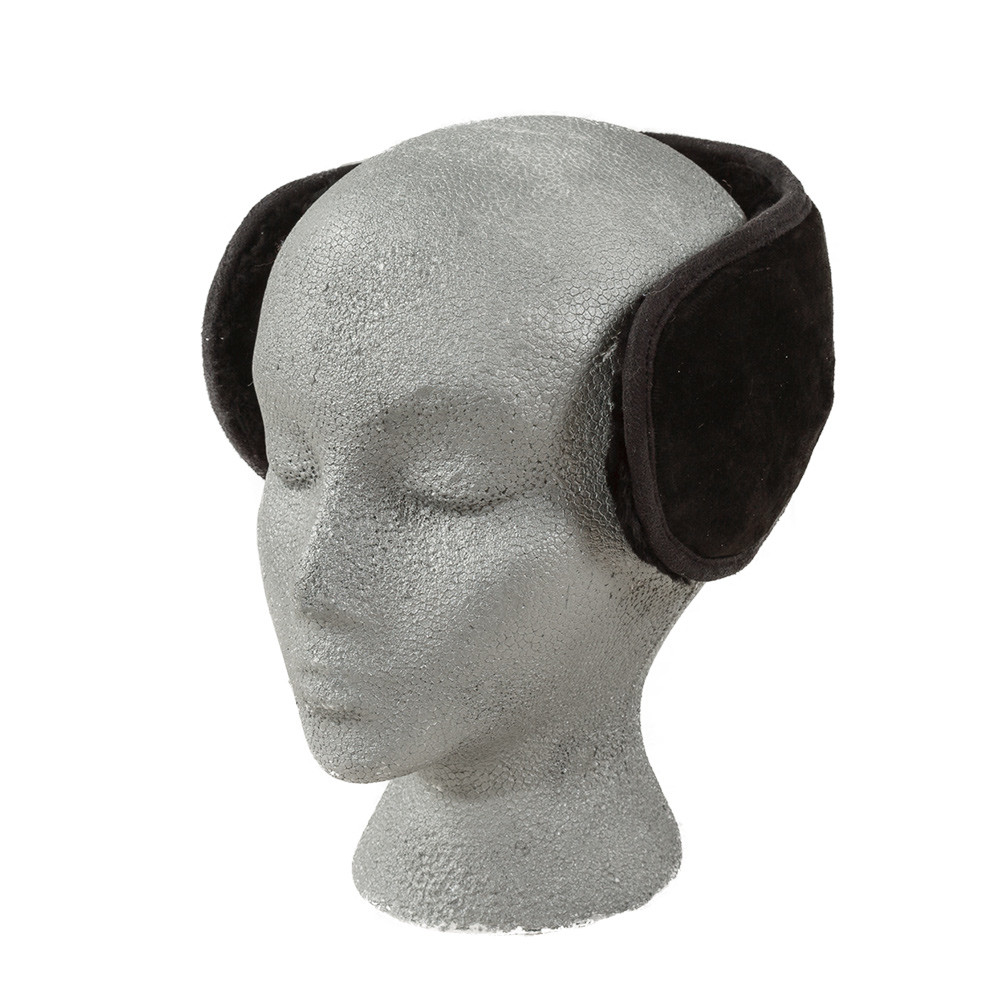 Slim Fit Sheepskin Earmuffs Black