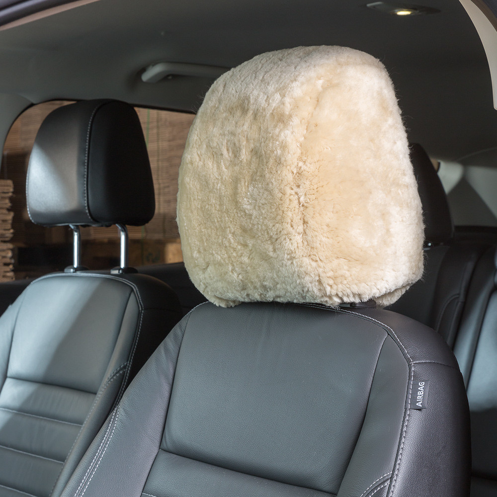 Superfit Headrest Cover Sheepskin and Acrylic