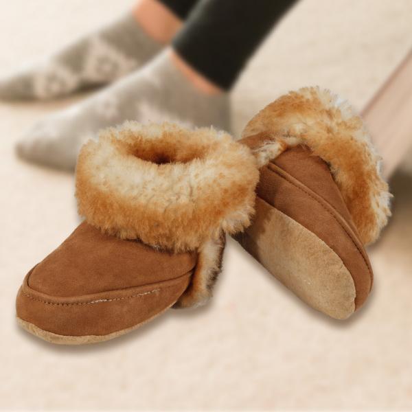 Youth Sheepskin Cabin Slippers