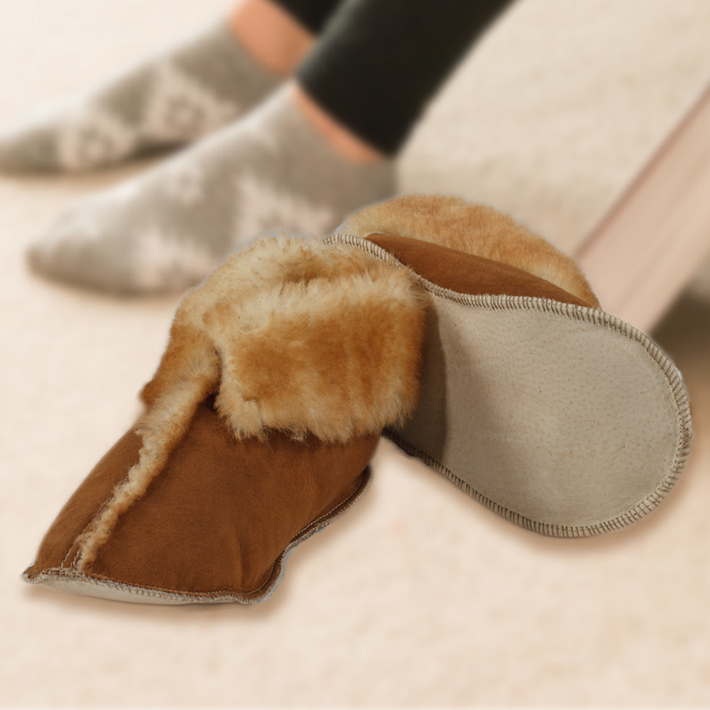 Deluxe Sheepskin Youth Slippers