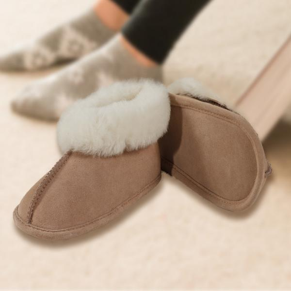 Youth Soft Sole Sheepskin Slippers