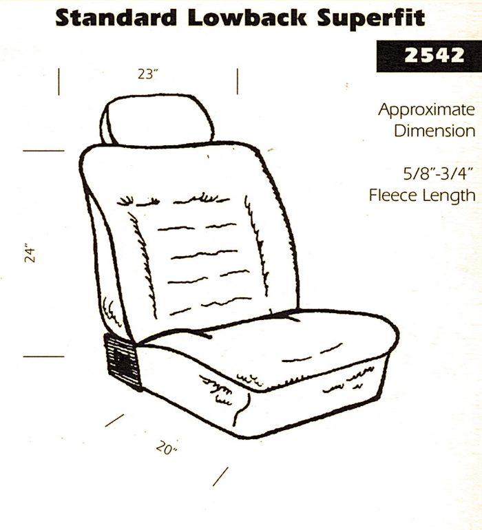 Standard Lowback Superfit 2542