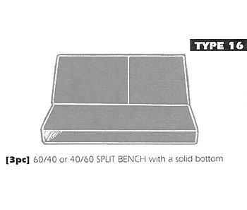 type 16 bench seat