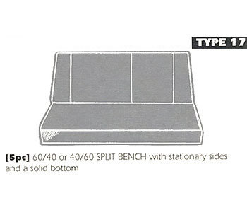 type 17 bench seat