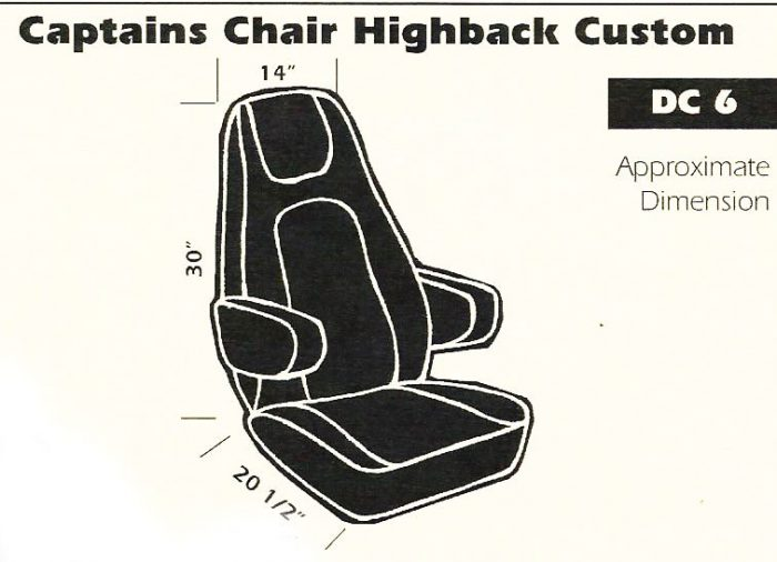 DC6 Captain's Chair Seat Cover