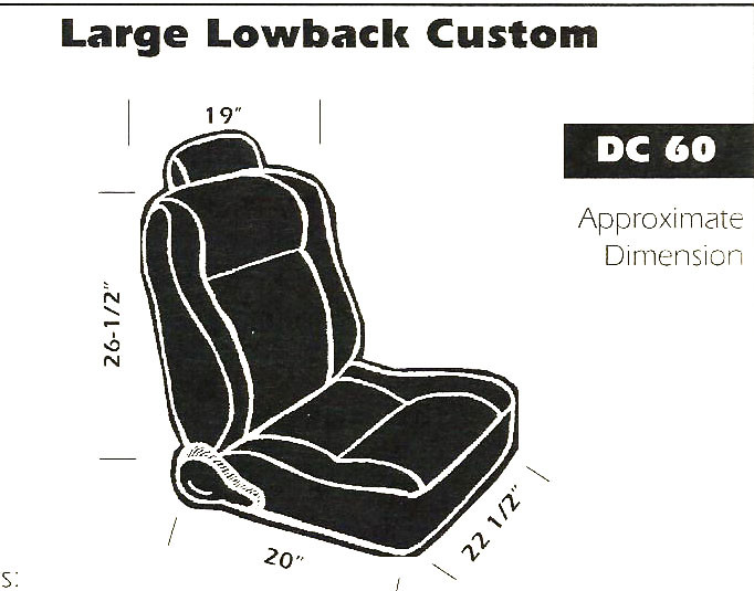 Large Lowback Seat cover